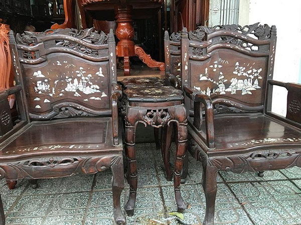 Thu mua các loại bàn ghế từ gỗ xưa